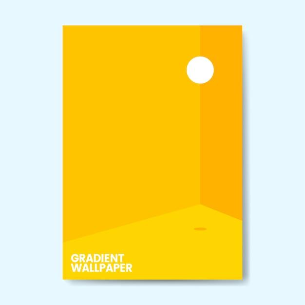 Design de modelo de papel de parede gradiente colorido