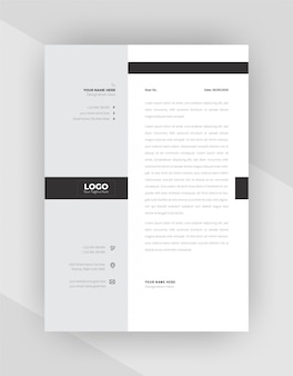 Design de modelo de papel timbrado corporativo de estilo minimalista.