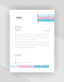 Design de modelo de papel timbrado corporativo minimalista.