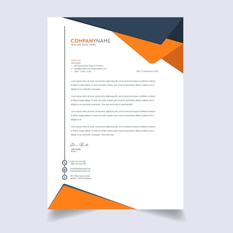 Design de modelo de papel timbrado - empresa moderna