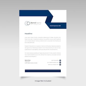 Design de modelo de papel timbrado profissional e criativo para o seu negócio