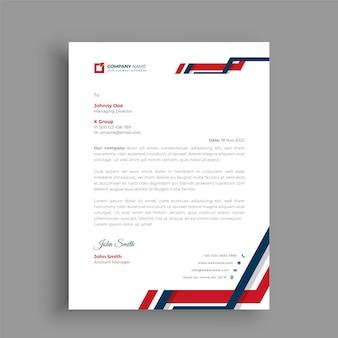 Design de modelo de papel timbrado profissional e criativo para o seu negócio Vetor Premium