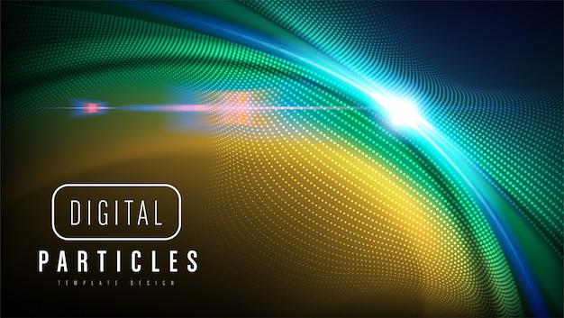Design de modelo de partículas curvilíneas