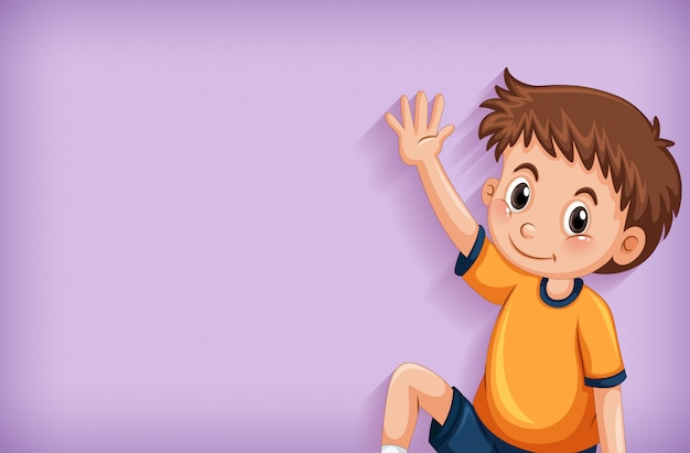 Design de modelo de plano de fundo com menino feliz