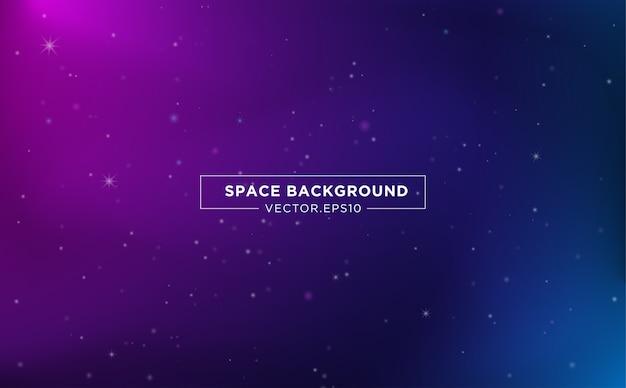 Design de modelo de plano de fundo do espaço com luz das estrelas abstrata