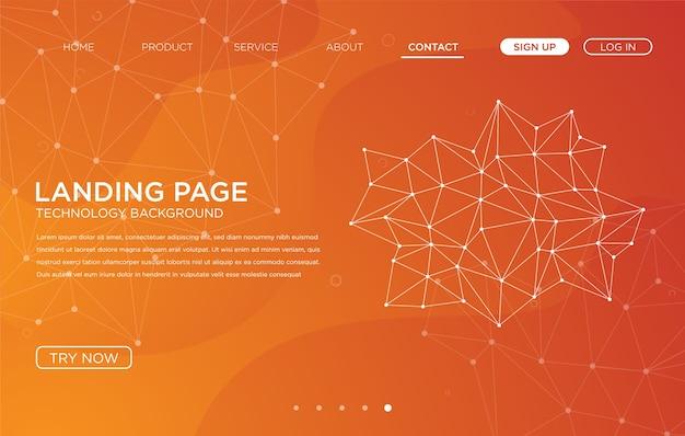 Design de modelo de plano de fundo do site de página de destino