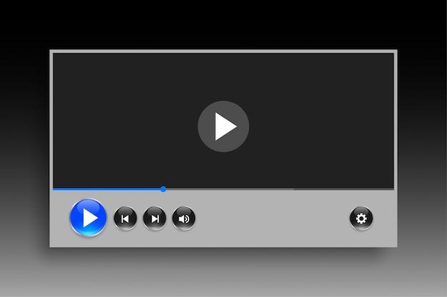 Design de modelo de player de vídeo em estilo de classe