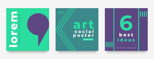 Design de modelo de postagem de estilo mínimo de mídia social