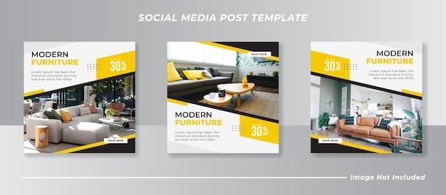 Design de modelo de postagem de mídia social de móveis