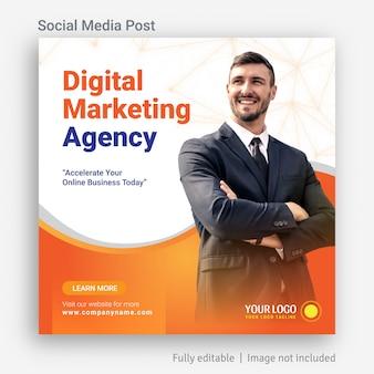 Design de modelo de postagem de publicidade de mídia social de marketing digital