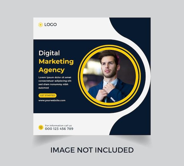 Design de modelo de pôster de marketing digital para negócios corporativos