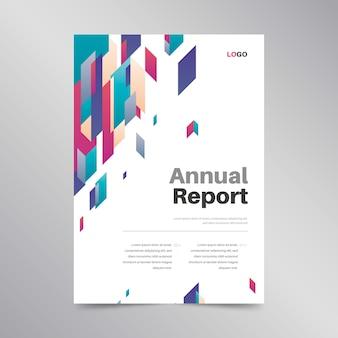 Design de modelo de relatório anual colorido