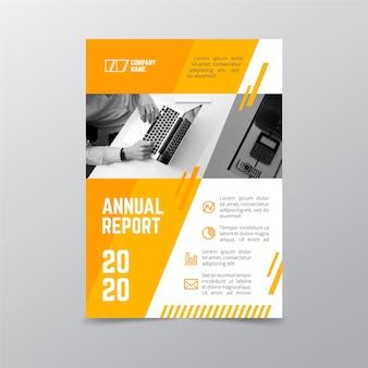 Design de modelo de relatório anual com foto