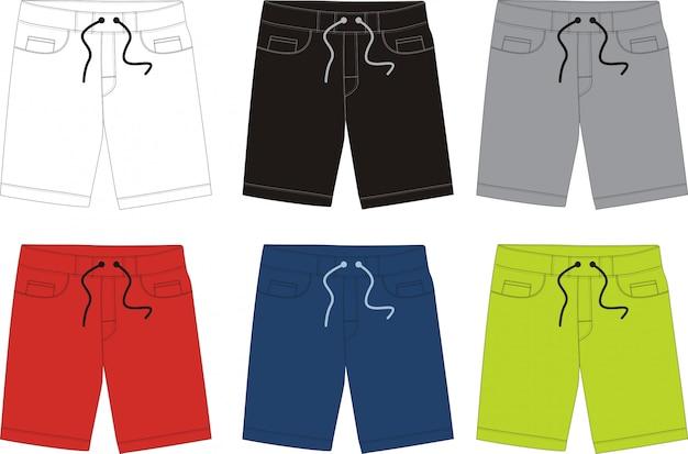 Design de modelo de shorts