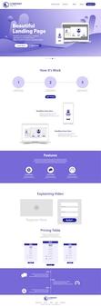 Design de modelo de site de página de aterrissagem bonita