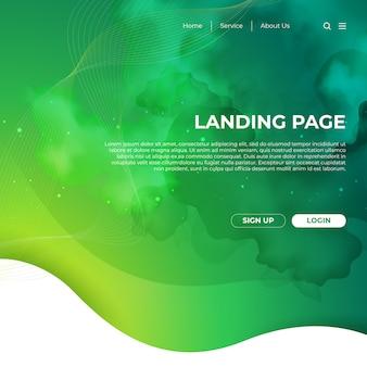 Design de modelo de site e página de destino
