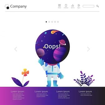Design de modelo de site