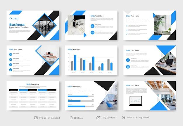 Design de modelo de slide de apresentação de negócios mínimo