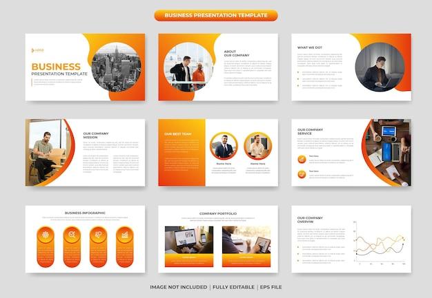 Design de modelo de slide de apresentação de powerpoint de negócios criativos