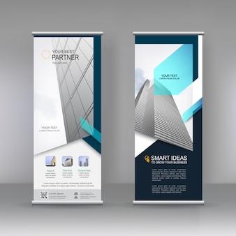 Design de modelo de suporte de banner vertical