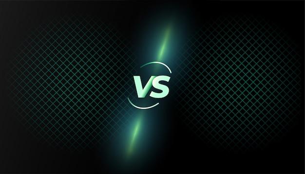 Design de modelo de tela de batalha versus versus em segundo plano