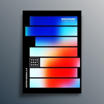 Design de modelo de textura gradiente para brochura
