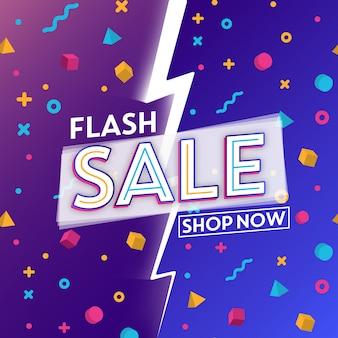 Design de modelo de venda em flash