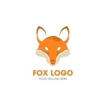 Design de modelo de vetor de logotipo abstrato fox
