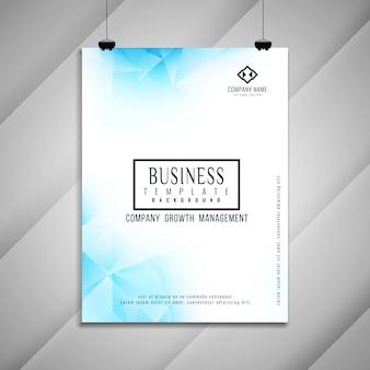 Design de modelo geométrico de brochura de negócio abstrato