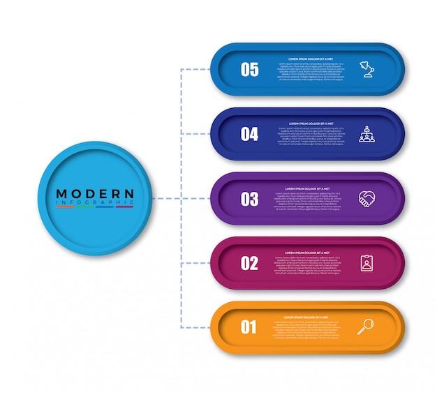 Design de modelo infográfico colorido