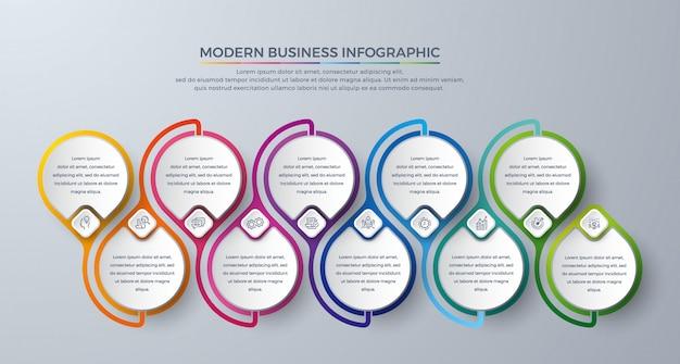 Design de modelo infográfico com cores modernas e simples ícone