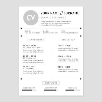 Design de modelo minimalista cv