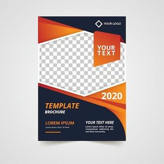 Design de modelo moderno de panfleto