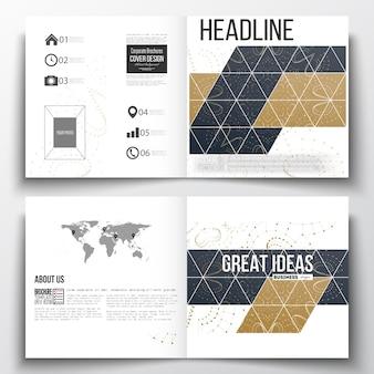 Design de modelo quadrado brochura.