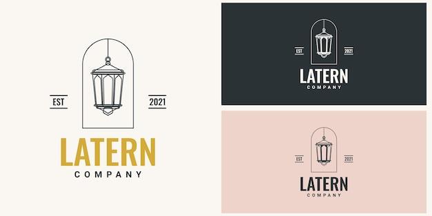Design de modelo vintage de logotipo lattern