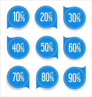 Design de modelos de banner de venda e coleção de tags de oferta especial