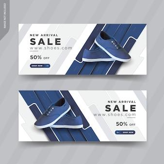 Design de modelos de capa de banner web moderno