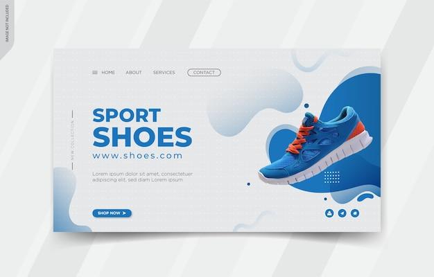 Design de modelos de página de destino de calçados esportivos