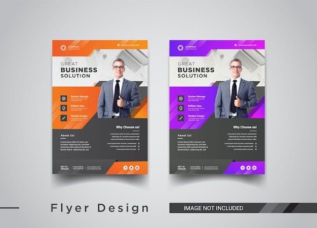 Design de modelos de panfleto comercial