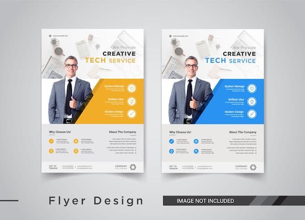 Design de modelos de panfleto de serviço técnico