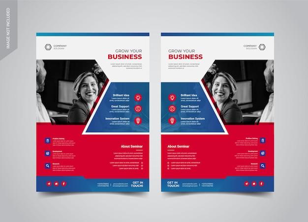 Design de modelos de panfletos de negócios