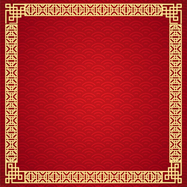 Design de moldura chinesa.