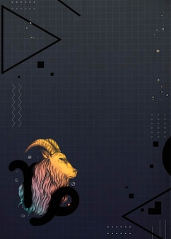 Design de moldura de cabra colorido