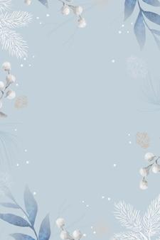 Design de moldura de folhas em branco