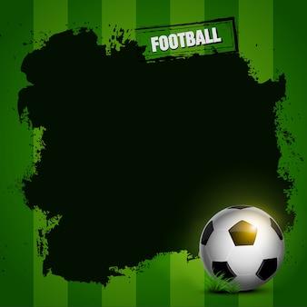 Design de moldura de futebol