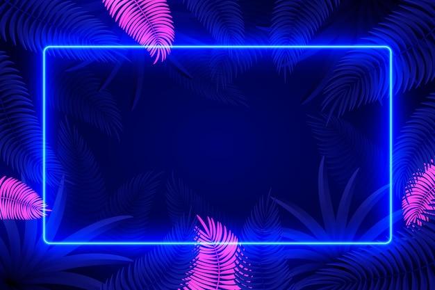 Design de moldura de luzes de néon
