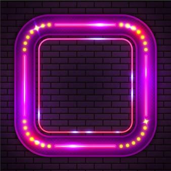 Design de moldura de néon colorido