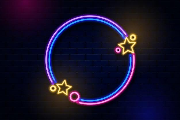 Design de moldura de néon