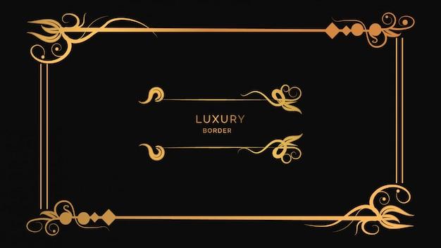 Design de moldura de ornamentos modernos de luxo com flores