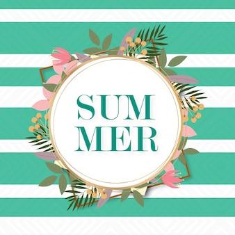 Design de moldura de verão